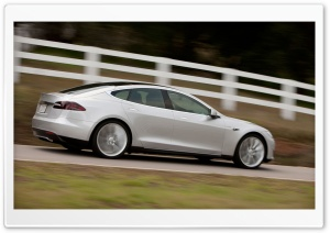 Tesla Alpha Model S Driving HD Wide Wallpaper for Widescreen