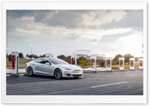 Tesla Arlington Texas Supercharger - Model S Electric Car Ultra HD Wallpaper for 4K UHD Widescreen desktop, tablet & smartphone