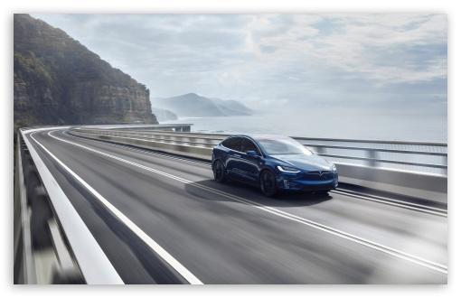 Tesla Electric Car Australia Coastline 4K HD Desktop