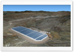 Tesla Gigafactory, Biggest Building in the World Ultra HD Wallpaper for 4K UHD Widescreen desktop, tablet & smartphone