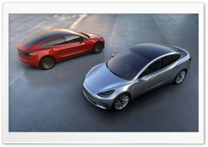 Tesla Model 3 HD Wide Wallpaper for Widescreen
