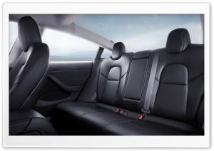 Tesla Model 3 Electric Car - Interior Rear Seat Ultra HD Wallpaper for 4K UHD Widescreen desktop, tablet & smartphone