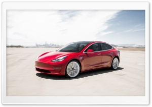 Tesla Model 3 Electric Car - Red Ultra HD Wallpaper for 4K UHD Widescreen desktop, tablet & smartphone