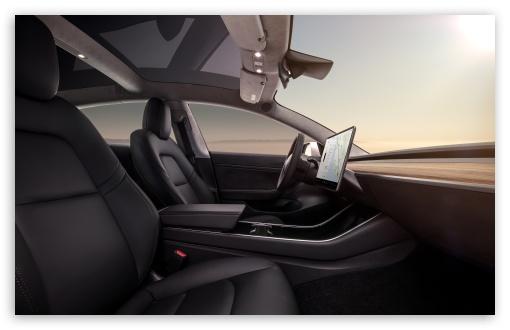 Tesla Model 3 Electric Car Black Interior Ultra Hd Desktop Background Wallpaper For 4k Uhd Tv Widescreen Ultrawide Desktop Laptop Multi Display Dual Triple Monitor Tablet Smartphone