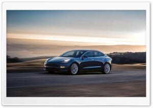 Tesla Model 3 Electric Car, Driving Ultra HD Wallpaper for 4K UHD Widescreen desktop, tablet & smartphone