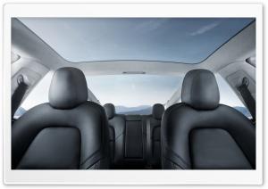 Tesla Model 3 Electric Car Interior Glass Roof Ultra HD Wallpaper for 4K UHD Widescreen desktop, tablet & smartphone