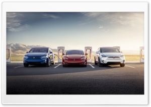 Tesla Model S and X Electric Cars Supercharger HD Wide Wallpaper for 4K UHD Widescreen desktop & smartphone