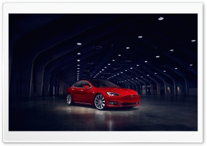 Tesla Model S Electric Car Red Ultra HD Wallpaper for 4K UHD Widescreen desktop, tablet & smartphone