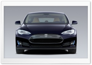Tesla Model S in Blue, Front HD Wide Wallpaper for Widescreen
