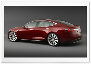Tesla Model S Signature, Rear View HD Wide Wallpaper for Widescreen
