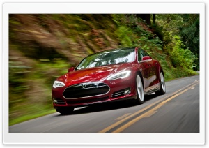 Tesla Model S Signature Red Motion HD Wide Wallpaper for Widescreen