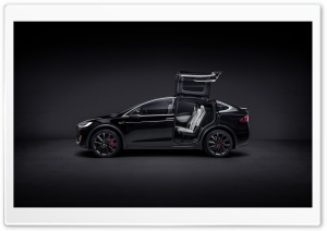 Tesla Model X SUV Black Electric Car - safest, quickest SUV Ultra HD Wallpaper for 4K UHD Widescreen desktop, tablet & smartphone