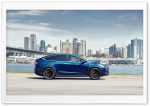 Tesla Model X SUV Electric Car, Australia, City Ultra HD Wallpaper for 4K UHD Widescreen desktop, tablet & smartphone