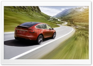 Tesla Model X SUV Electric Car, Mountain Road Ultra HD Wallpaper for 4K UHD Widescreen desktop, tablet & smartphone