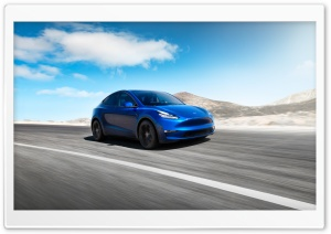 Tesla Model Y Electric Car - Blue, Front Ultra HD Wallpaper for 4K UHD Widescreen desktop, tablet & smartphone