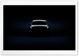 Tesla Model Y Electric Car Silhouette HD Wide Wallpaper for 4K UHD Widescreen desktop & smartphone