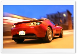 Tesla Roadster HD Wide Wallpaper for Widescreen