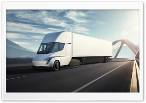 Tesla Semi Electric Truck Bridge Ultra HD Wallpaper for 4K UHD Widescreen desktop, tablet & smartphone