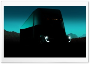 Tesla Semi Electric Truck Dark Ultra HD Wallpaper for 4K UHD Widescreen desktop, tablet & smartphone