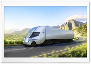 Tesla Semi Electric Truck Road Ultra HD Wallpaper for 4K UHD Widescreen desktop, tablet & smartphone