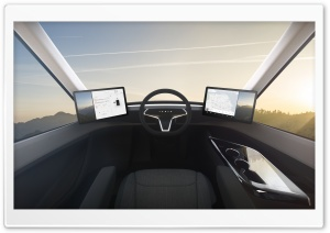 Tesla Semi Interior Command Ultra HD Wallpaper for 4K UHD Widescreen desktop, tablet & smartphone