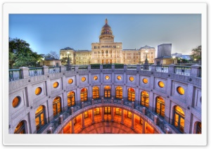 Texas State Capitol HDR HD Wide Wallpaper for Widescreen
