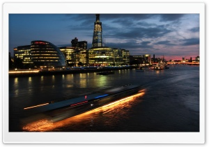 Thames River At Night HD Wide Wallpaper for Widescreen