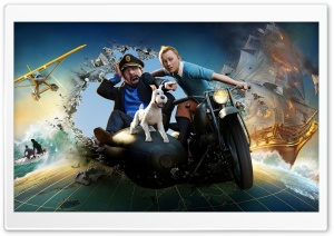 The Adventures of Tintin: The Secret of the Unicorn HD Wide Wallpaper for Widescreen