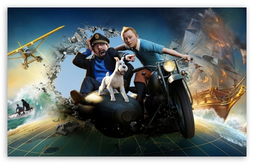 The Adventures of Tintin: The Secret of the Unicorn HD wallpaper for Wide 16:10 5:3 Widescreen WHXGA WQXGA WUXGA WXGA WGA ; HD 16:9 High Definition WQHD QWXGA 1080p 900p 720p QHD nHD ; Other 3:2 DVGA HVGA HQVGA devices ( Apple PowerBook G4 iPhone 4 3G 3GS iPod Touch ) ; Mobile WVGA iPhone PSP - WVGA WQVGA Smartphone ( HTC Samsung Sony Ericsson LG Vertu MIO ) HVGA Smartphone ( Apple iPhone iPod BlackBerry HTC Samsung Nokia ) Sony PSP Zune HD Zen ;