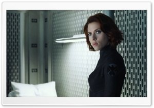 The Avengers (2012) - Scarlett Johansson HD Wide Wallpaper for Widescreen