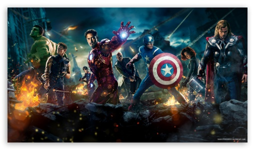 The Avengers HD wallpaper for HD 16:9 High Definition WQHD QWXGA 1080p 900p 720p QHD nHD ; Mobile PSP - Sony PSP Zune HD Zen ;