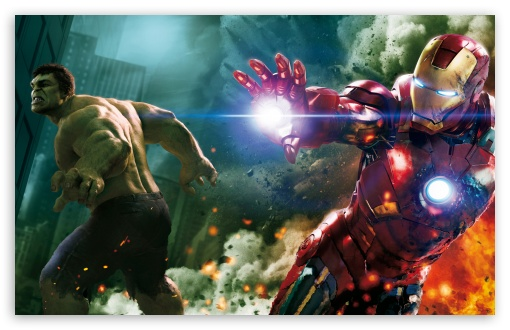 The Avengers - Hulk and Ironman HD wallpaper for Standard 4:3 5:4 Fullscreen UXGA XGA SVGA QSXGA SXGA ; Wide 16:10 Widescreen WHXGA WQXGA WUXGA WXGA ; HD 16:9 High Definition WQHD QWXGA 1080p 900p 720p QHD nHD ; Other 3:2 DVGA HVGA HQVGA devices ( Apple PowerBook G4 iPhone 4 3G 3GS iPod Touch ) ; Mobile VGA iPhone iPad PSP Phone - VGA QVGA Smartphone ( PocketPC GPS iPod Zune BlackBerry HTC Samsung LG Nokia Eten Asus ) HVGA Smartphone ( Apple iPhone iPod BlackBerry HTC Samsung Nokia ) Sony PSP Zune HD Zen ; Tablet 2 Android 3 DVGA HVGA HQVGA devices ( Apple PowerBook G4 iPhone 4 3G 3GS iPod Touch ) ; Dual 4:3 5:4 16:10 5:3 16:9 UXGA XGA SVGA QSXGA SXGA WHXGA WQXGA WUXGA WXGA WGA WQHD QWXGA 1080p 900p 720p QHD nHD ;