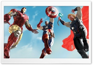 The Avengers - Iron Man, Captain America And Thor HD Wide Wallpaper for Widescreen