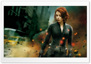 The Avengers Black Widow HD Wide Wallpaper for Widescreen