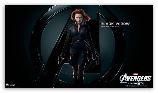 The Avengers Black Widow HD wallpaper for HD 16:9 High Definition WQHD QWXGA 1080p 900p 720p QHD nHD ; Mobile 16:9 - WQHD QWXGA 1080p 900p 720p QHD nHD ;