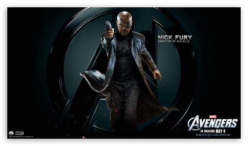 The Avengers Nick Fury HD wallpaper for HD 16:9 High Definition WQHD QWXGA 1080p 900p 720p QHD nHD ; Mobile 16:9 - WQHD QWXGA 1080p 900p 720p QHD nHD ;