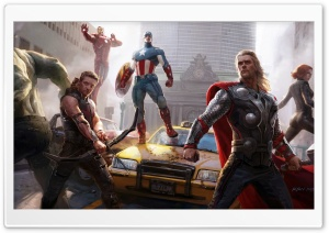The Avengers Painting HD Wide Wallpaper for Widescreen