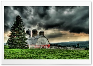The Barn HDR HD Wide Wallpaper for Widescreen