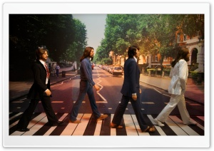 The Beatles - Abbey Road - Madame Tussaud HD Wide Wallpaper for Widescreen