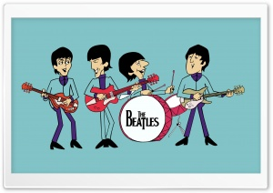 The Beatles Cartoon HD Wide Wallpaper for Widescreen