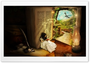 The Book Of Secrets by ShaynART HD Wide Wallpaper for Widescreen