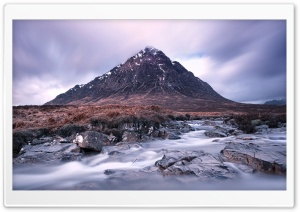 The Buachaille mountain, Scotland HD Wide Wallpaper for Widescreen