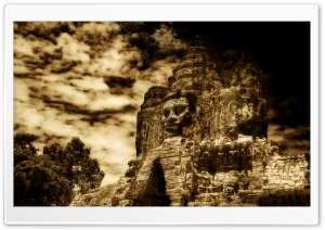 The Buddha King Of Angkor Wat, Cambodia HD Wide Wallpaper for Widescreen