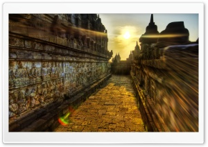 The Buddhist Temple Of Borobudur, Indonesia HD Wide Wallpaper for Widescreen