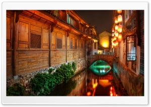 The Canals Of Lijiang At Night HD Wide Wallpaper for Widescreen