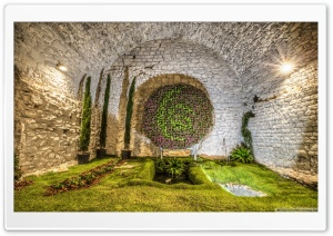 The Cathedral Basement Girona, Catalonia HD Wide Wallpaper for 4K UHD Widescreen desktop & smartphone