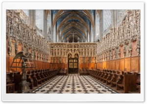 The Choir Stalls HD Wide Wallpaper for Widescreen