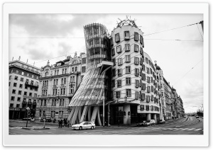 The Dancing House in Prague HD Wide Wallpaper for 4K UHD Widescreen desktop & smartphone