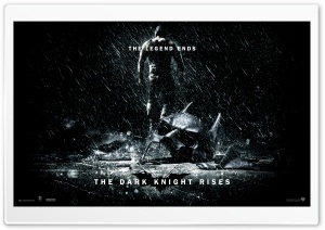 The Dark Knight Rises The Legend Ends HD Wide Wallpaper for 4K UHD Widescreen desktop & smartphone