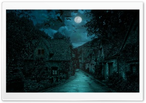 The Dark Village Ultra HD Wallpaper for 4K UHD Widescreen desktop, tablet & smartphone